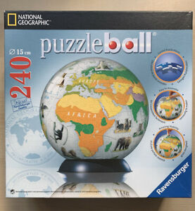 240 piece Puzzelball ANIMALS Earth Globe Jigsaw National Geographic Ravensburger