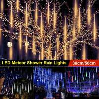 Meteor Shower Falling Rain Drop/Icicle Snow LED Christmas Outdoor Light 30/50cm