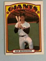 Topps 1972 #443 Ken Henderson - San Francisco Giants