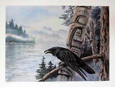 Sue Coleman Hand Signed Numbered Limited Edition Power Of The Raven 1989