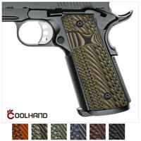 1911 Slim Grip G10 Full Size Magwell Mag Release Ambi Safety Cool Hand H1SM-J1SM