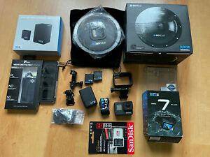 GoPro HERO7 Black mit Zubehörpaket DOME GoPole Filter Pack Bual Battery Charger