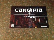 Music Lp Cd Candira Promo Poster Metal 17x11 Century Media records . !