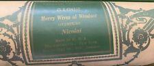 Rare Aeolian Pipe-Organ Player Piano Roll 51662 Merry Wives of Windsor -Nicolai