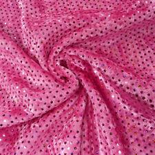 Faschingsstoff Pannesamt mit Pailletten pink 1,5m Breite
