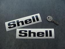 2x stickers SHELL 13cm noir auto car sport decals pegatinas aufkleber A193-070