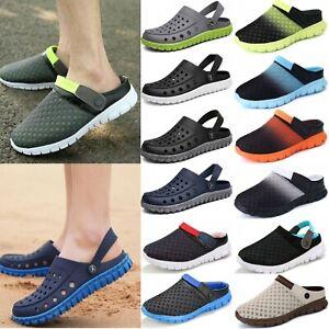 Men Clogs Mules Slipper Nursing Garden Beach Sandals Hospital Pool Shoes Summer