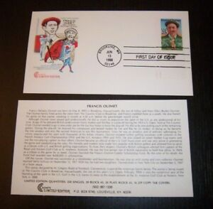 SC 2377 FIRST DAY COVER FRANCIS D OUIMET TOPICAL GOLF CC CACHETS UNADDRESSED FDC