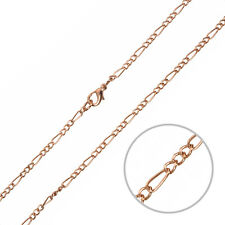 "Figaro Copper Necklace Chain Finished With Lobster Clasp 18"" (G93/14)"