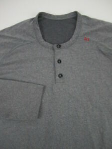 Mens Large Lululemon Metal Vent Tech henley long sleeve shirt