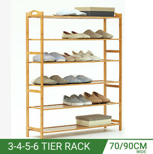 Shoes Bookcase Plant Flower Bamboo Shelf Stand Rack Storage Wooden Organis