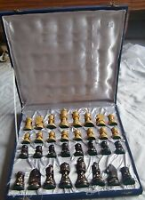 WOODEN BLACK & WHITE CHESS PIECES BOARD BOX TOURNAMENT GAME BACKGAMMON INDIA