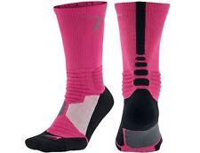 NEW Nike HYPER Elite Socks XL 12-15 PINK BLACK CANCER KAY YOW Cushioned