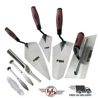 Brick Trowel Soft Grip, Brick Jointer, Line Pins, String, Builder Tools CHOOSE