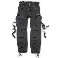 Brandit - M65 Ladies Trouser Schwarz Black Cargo Hose vintage Baumwolle Leder Da