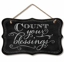 Chalk it Up Fancy Wood Sign---Count Your Blessings---Small Plaque