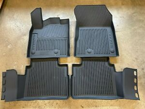 NEW OEM 2021 NISSAN ROGUE 4 PC MOLDED ALL WEATHER RUBBER FLOOR MATS - BLACK