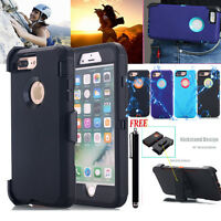 F Apple iPhone 5s 6s 7 8 Plus w Belt Clip Holster Hybrid Rugged Heavy Duty Case
