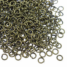 25-500PCS Silver Plated Jump Rings Split Rings For Jewellery Making DIY Crafts