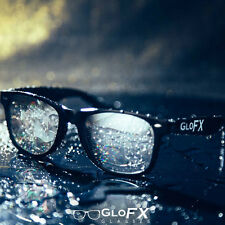 GloFX Diffraction Glasses – Black – Mirror Prism Effect Rainbow Rave Refraction