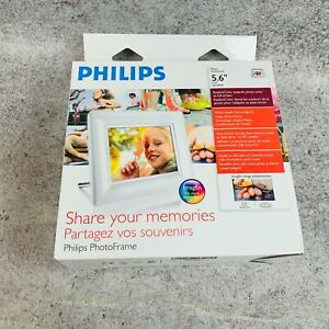 """Phillips Digital Photo Frame 5.6"""" 6FF3FPW Working in Box"""