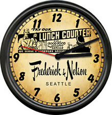 Frederick & Nelson Retro Vintage  Lunch Counter Cafe Diner Sign Wall Clock