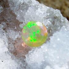 1 rainbow gelb  äthiopien opal  brilliant cut, 0,9 ct, ungebohrt, ca.6,2x5mm