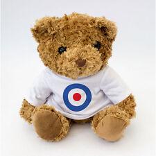 NUOVO Carino e COCCOLONE mod target Teddy Bear-T-SHIRT BIANCA-Xmas regalo di compleanno