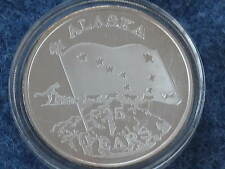 1984 Johnson Matthey Alaska 25th Statehood Anniversary 1 ounce Silver Art Round