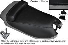 BLACK & GREY CUSTOM FITS HYOSUNG GRAND PRIX 125 DUAL LEATHER SEAT COVER