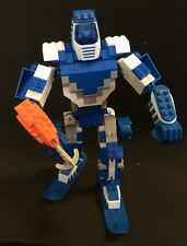 Mega Bloks Transforming Blok Bots #9333 Ice - Manual, Stickers, Extra Parts 100%