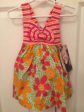 New! Younghearts Bright Colored Floral Infant Girls Sundress Dress 12 Months Nwt