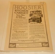 Vintage Magazine Advertisement April 1915 Hoosier Kitchen Cabinet      I