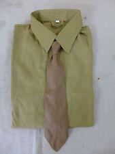 SET RZM Diensthemd Uniformhemd Feldhemd Hemd braun Gr. XLarge + Binder / Schlips
