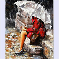 """20""""*16"""" Canvas Umbrella Girl Paint By Numbers Artist Acrylic Painting Home Decor"""