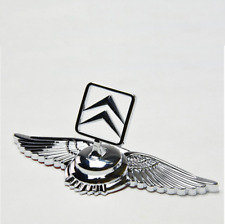3D Chrome Alloy Logo Wing Hood Stand Ornament Emblem Badge Fit Citroen C2 C4 C6