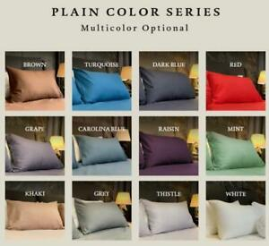 2pc 100% Egyptian Cotton Luxury Pillowcases Pair Pack Bedroom Pillow Covers