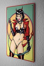 Cartel de chapa Cartoon Reinhard Horst Hot Babe