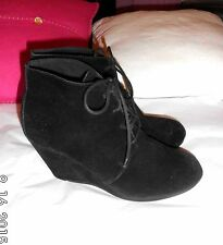 Unbranded Suede Lace Up Casual Boots for Women