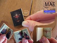 Diablo III. Mini book artisan hand made. 1/12 scale.