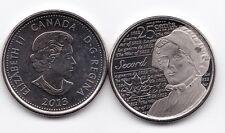CANADA 2013 25 CENTS LAURA SECORD O UNC