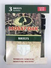 3 Pk Mossy Oak Camouflage Camo Briefs Size Small 28 - 30 Mens Underwear Hunter