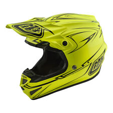 2018 Troy Lee Designs SE4 Pinstripe Yellow Adult Large MX Helmet TLD Motocross