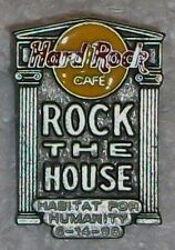 HARD ROCK CAFE ROCK THE HOUSE HABITAT FOR HUMANITY 1998 PIN