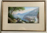 Maria Gianni Naples Italy Gouache on paper Framed Glass [AH203]