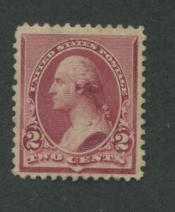1890 US Stamp #219D 2c Mint Hinged Very Fine Original Gum Catalogue Value $275
