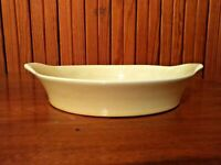 Vintage OVEN-PROOF USA Pottery Opened Casserole Dish in  Beautiful Yellow Pastel