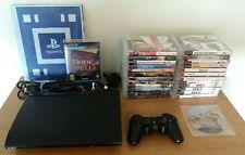 Sony PlayStation 3 PS3 Super Slim 12GB Console Bundle 26 Games & Wonderbook