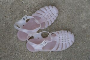 RARE Vintage Sarra Zienne rubber jellybean sandals light pink 8.5 made in France