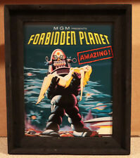 Large 50s FORBIDDEN PLANET Movie Robby Robot Light up 3D Lenticular Sign